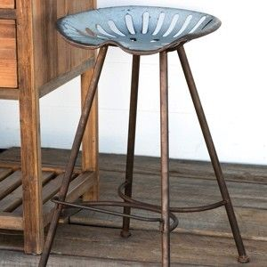 Galvanized Tractor Seat Bar Stool & 46 best Kitchen chairs images on Pinterest | Home Kitchen and ... islam-shia.org