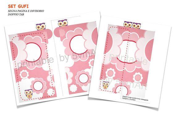 Set Gufi Divisorio e Segnapagina  printable formato di 5vmArt, €3.50