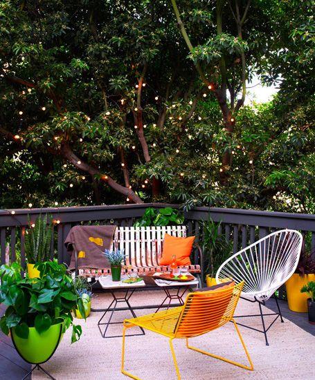 Cool backyard patio