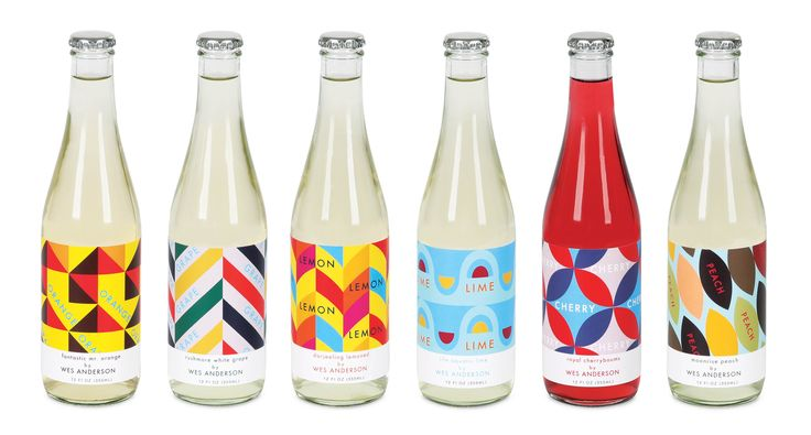 "The objective of this project was to design a line of soda inspired by director Wes Anderson and his films. Used as a promotional piece for his new movie ""The Grand Budapest Hotel"", each soda represents the quirkiness of its chosen movie using pattern, color, and flavor name."