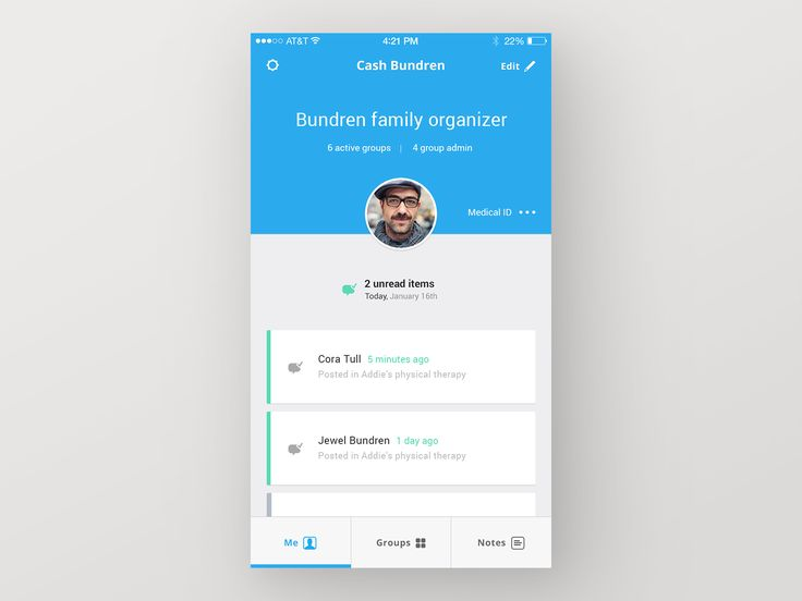 Spectra Care App — Me Tab - by Ben Mingo Follow for Rally Interactive