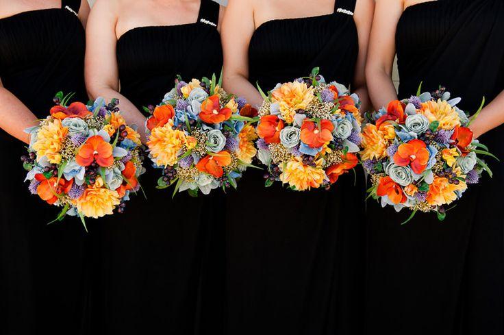 Bright and colourful bouquets by Jenny Simpson, Farmyard Flowers Sea Lake. http://www.farmyardflowers.com.au/