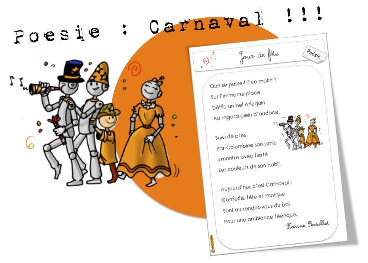 Et voici un dernier petit article : 4 poésies sur Carnaval créées par une de nos boutgommeuses ! Merchiiii J'ai utilisé une de ses poésies car notre loup (ici ) s'est arrêté à Rio la semaine der...