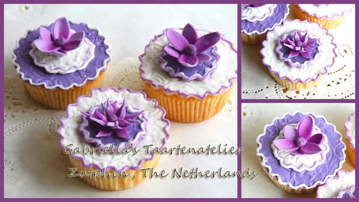 Paarse #cupcakes voor een bruiloft #Zutphen
