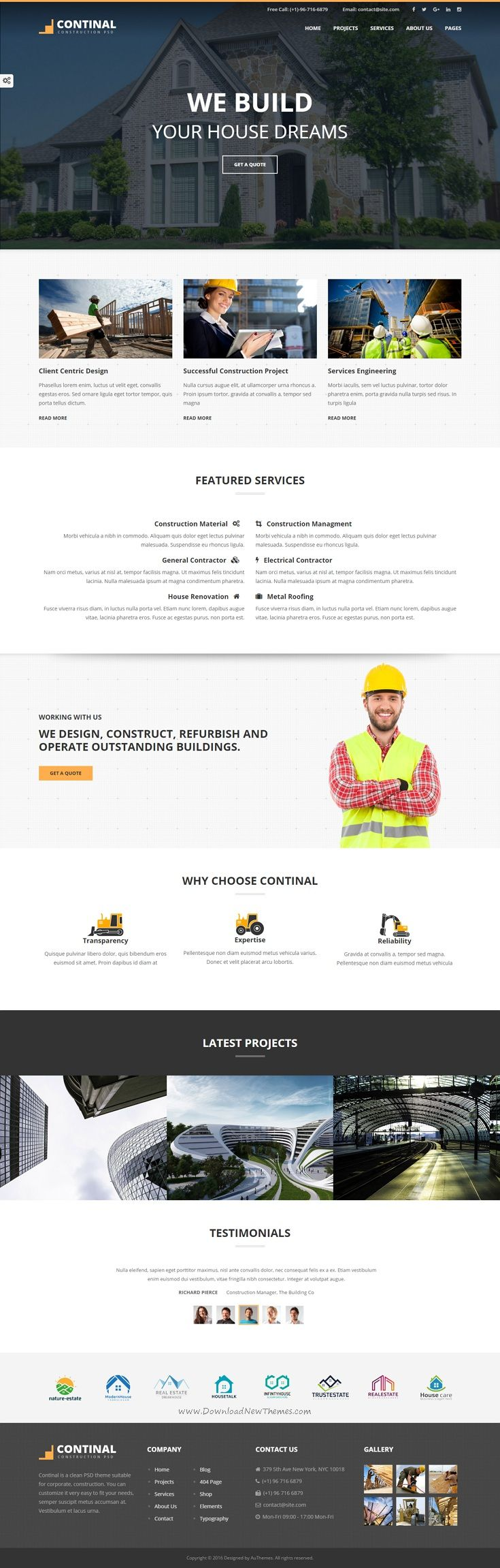 Continal Construction Business HTML5 Template 324