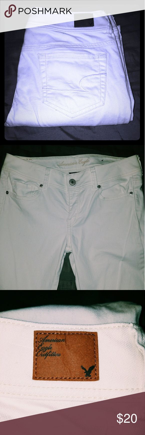 White Bootcut Jeans Flawless White Jeans  Original Bootcut 16 in across waist 9in rise in front 11in rise in back Size 10 regular American Eagle Outfitters Jeans