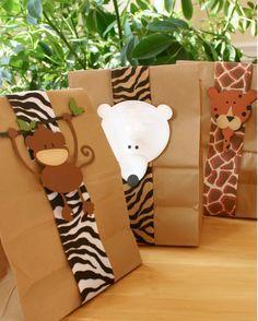 bolsas de papel kraft decoradas - Buscar con Google                                                                                                                                                     Más