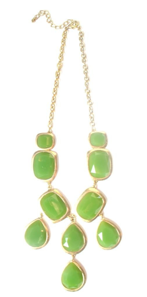 Green Statement Necklace - fall must-have