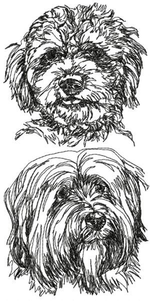 Advanced Embroidery Designs - Tibetan Terrier Set