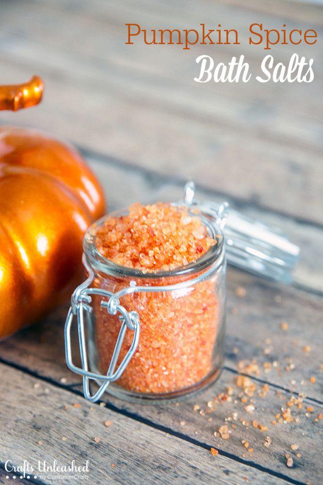Pumpkin Spice DIY Bath Salts #bathsalts #diyspa #diybeauty