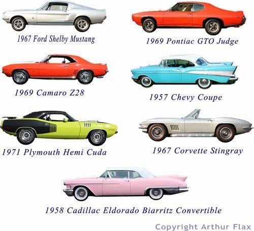 Klassische Muscle Cars Set von zwei Wandtattoos Aufkleber, Oldtimer Wandtattoos, Boys Room Decals, Man Cave Decor, Kids Wandtattoos   – Dillian