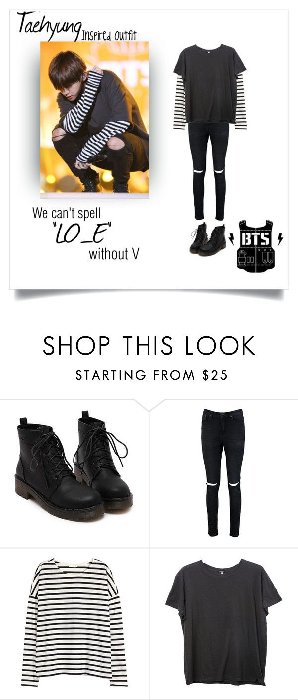 """""""Taehyung Inspired Outfit"""" by mondsterker ❤ liked on Polyvore featuring Boohoo, H&M and R13 http://amzn.to/2sZizM2"""