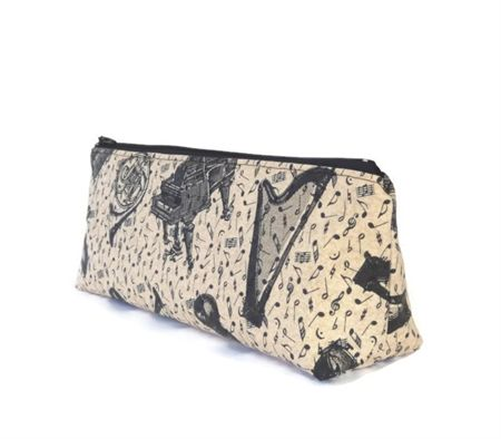 Musical Instruments Make-up Zipper Pouch // Stationery Pencil Case