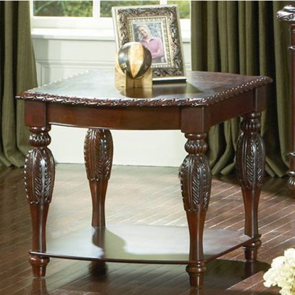 Best Antoinette Steve Silver Cherry End Table In 2020 Cherry 400 x 300