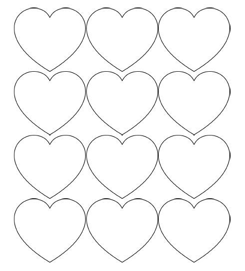 Top 25+ Best Printable Hearts Ideas On Pinterest | Valentine