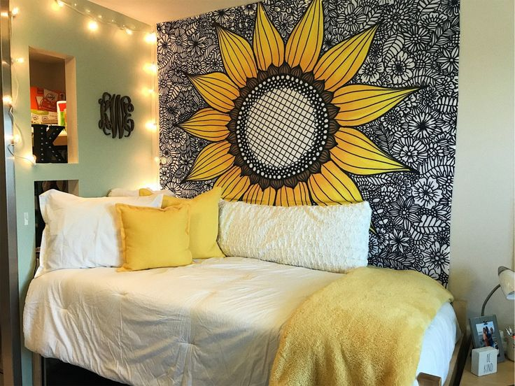 Dorm Room Ideas For Girls College Yellow