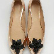 Czarna dalia - klipsy do butów