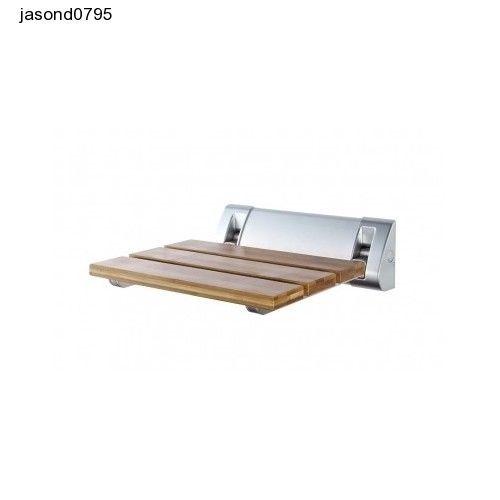 Wall Mounted Folding Shower Seat Wooden Bathroom Rack Modern Bath Sit Bath Wash