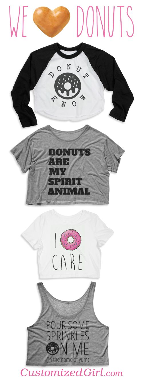 Show your love on #nationaldonutday with a custom donut shirt!