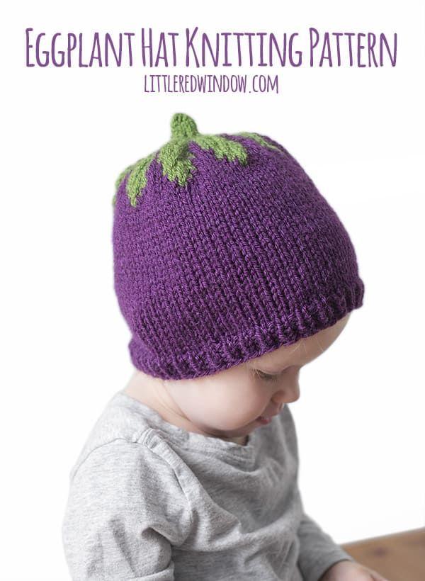 Adorable Eggplant Hat Knitting Pattern Hat Knitting Patterns Knitting Patterns Baby Hat Knitting Pattern