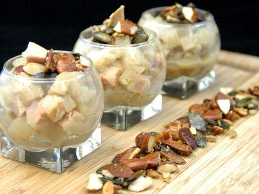 Recette Verrines de poires au foie gras