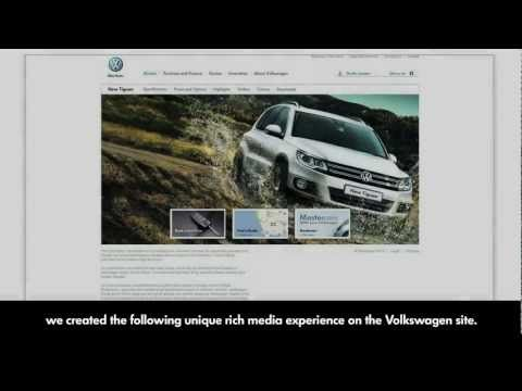 Volkswagen: Tiguan Explore Tab    To help position Volkswagen's new Tiguan 4x4 as a vehicle made for adventure  and exploration, we created a unique rich media experience on the South  African Volkswagen site.  The 'Explore Tab', prompts viewers to explore further. When users interact with the banner by zooming out of the website, they reveal that the Tiguan site is actually surrounded by numerous other working adventure websites.