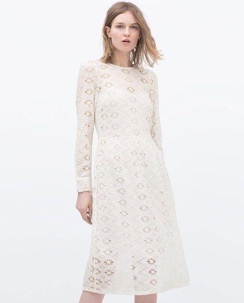 Kanten jurk ZARA, 80 euro