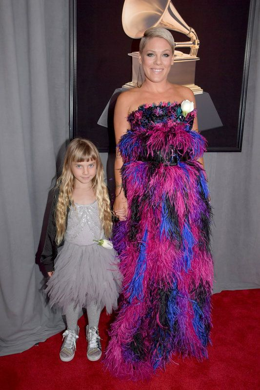 (Lester Cohen via Getty Images via Getty Images) Grammys 2018: Pink with her daughter, Willow Hart