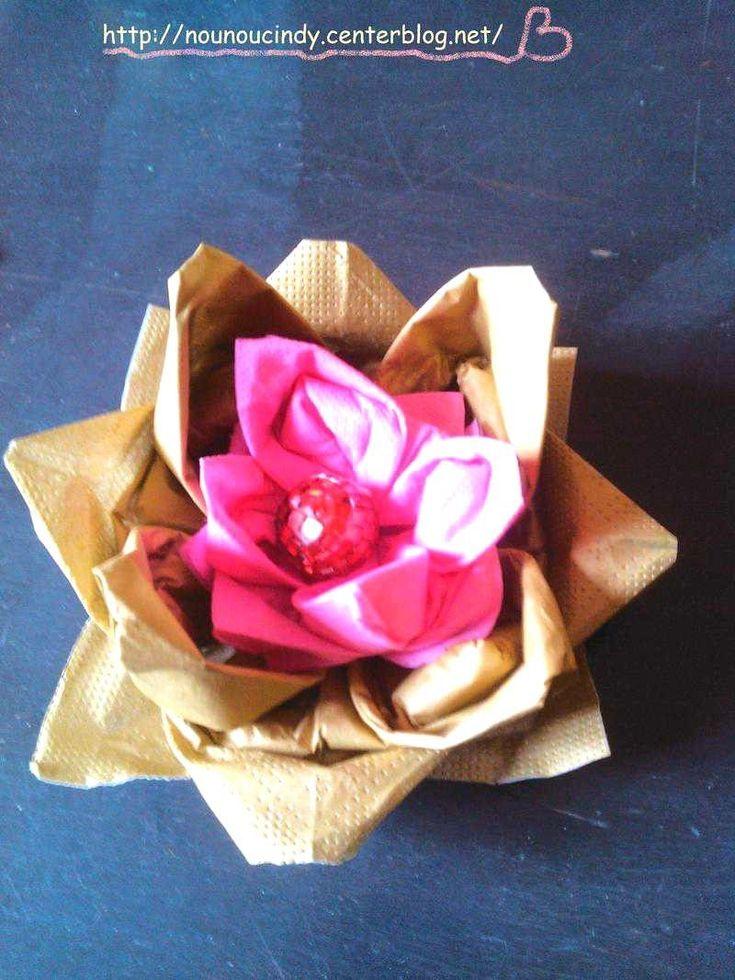30 Nouveau Pliage De Serviette En Papier Facile Fleur Idees Images Des Images # ...