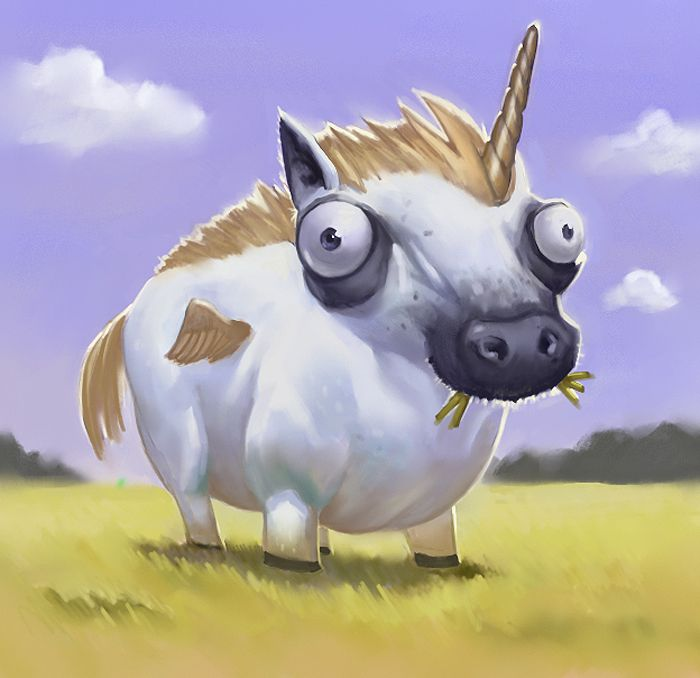 Sometimes I don't get the unicorn excitement, but this one makes me wish they were real.