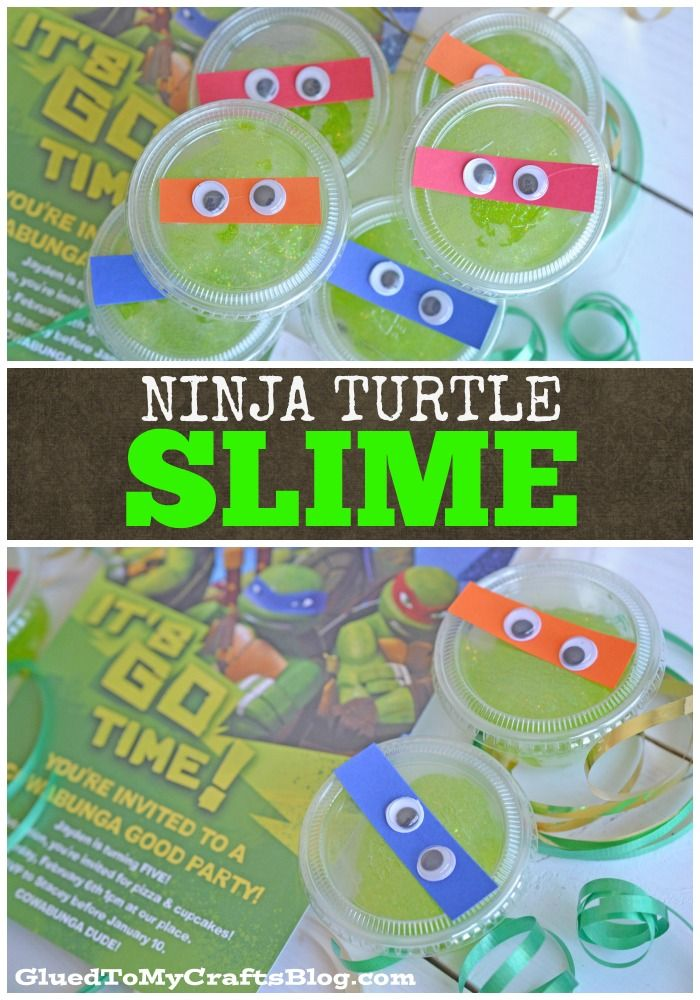 Ninja Turtle Birthday Party Slime - Party Favor {AD}