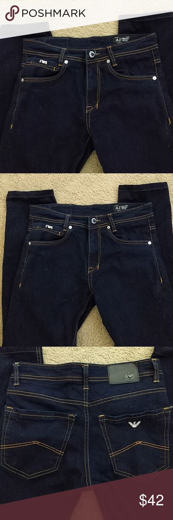 EUC Armani Exchange Skinny Jeans Sz 30 Worn once. Look brand, brand new. Inseam is 30 inches. Jeans have some stretch, but not alot. 100% cotton.  Great investment piece!  N/S pet free home. Xposted. Shipping included in price. Armani Exchange Jeans