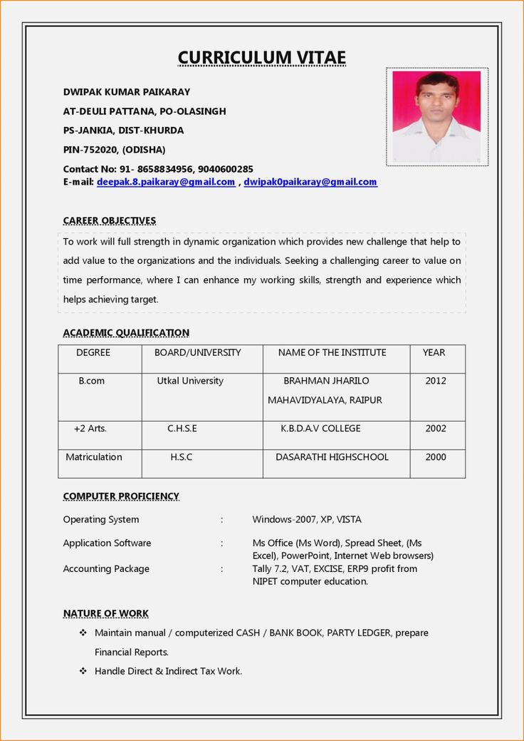 017 Template Ideas Word Document Resume Internal Job