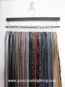 Passionately Living: Tie & Scarf Hangers