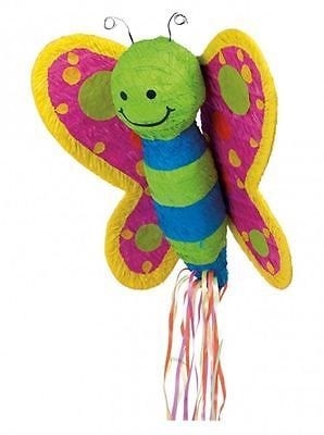 BUTTERFLY PULL STRING PINATA Fun Kids Birthday Party Game Decoration P39400