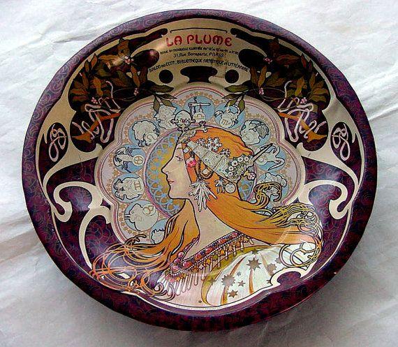 Fabulous Art Nouveau Metal Zodiac Bowl.197080s by chalcroft, $16.00