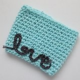 This coffee sleeve is hand made with 100% cotton by me!  It fits to go cups 16oz and larger.  Makes a great gift.