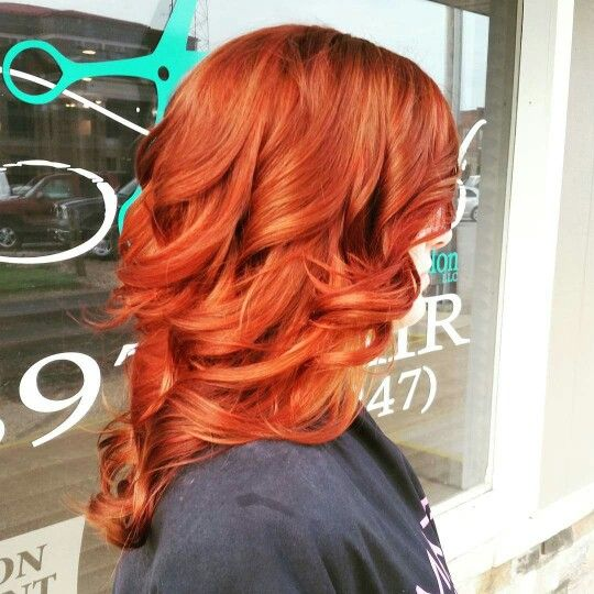 Matrix HD-Rc red copper hair. Long hair. Curly hair. Deep copper red. Hair by Sheena