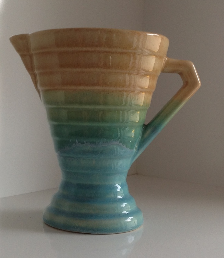 Diana Australian pottery  jug purchased 13/1/13, from old bus depot markets.