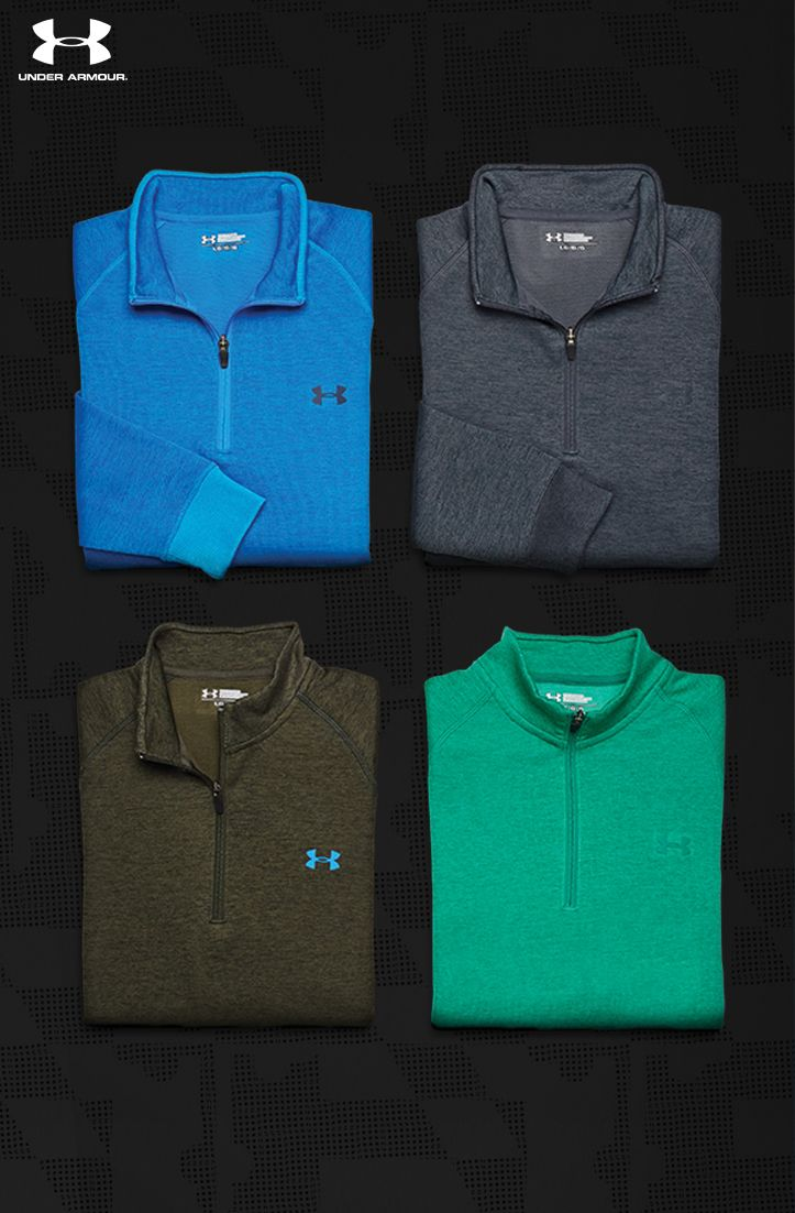 25% off the Under Armour Golf Quarter Zip every guy wants. Built for greater mobility so he'll see no restriction in his swing at all. Ideal for late season on the course— it's light, warm and water resistant. This only happens once a year. Shop now and get FREE SHIPPING for a limited time!