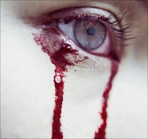 I loved you so hard, and hurt so much for you, that I cried tears of blood to save you