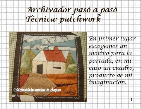 MANUALIDADES ARTISTICAS DE AMPARO: TUTORIAL-ARCHIVADOR