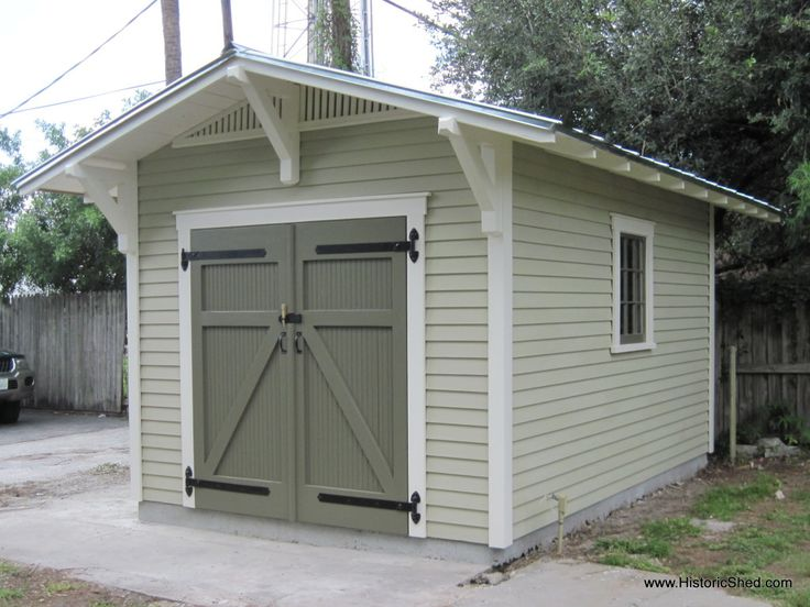 Bungalow style gable shed by historic shed sheds for Overhead door for shed