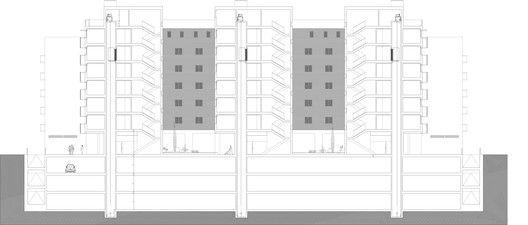 Edificio para 103 viviendas garajes y trasteros VPA,Sección