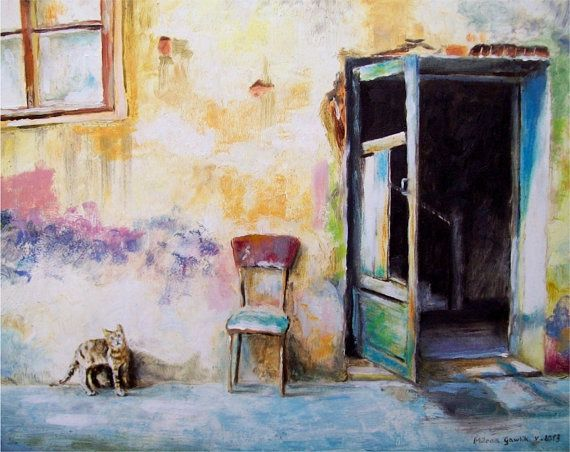 The Cat - Fine Art GICLEE PRINT after an original painting by Milena Gawlik