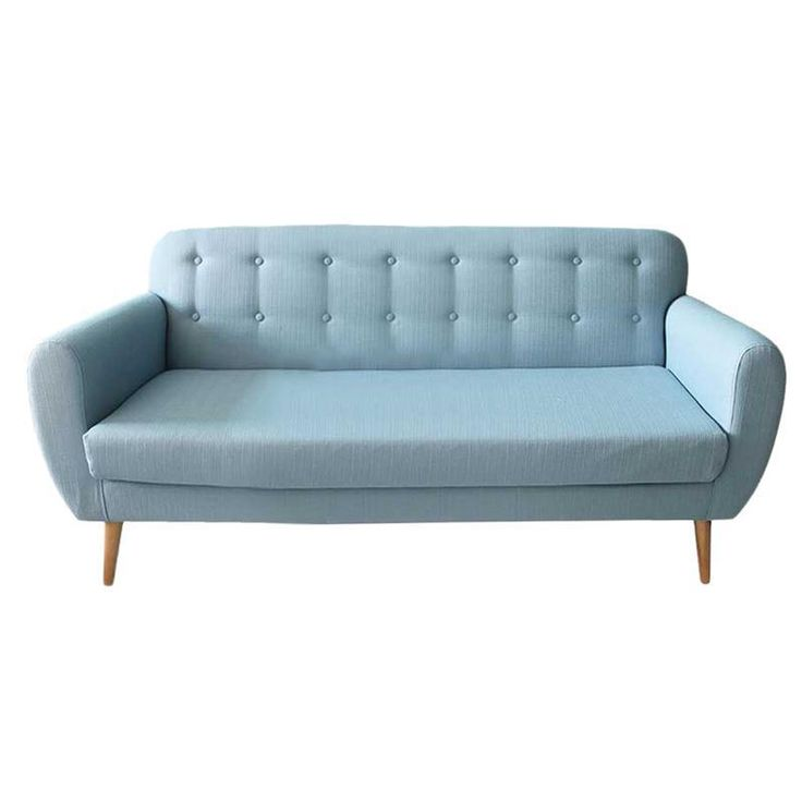 FABRIC 3 SEATER SOFA IN LT BLUE COLOR 190X76X85