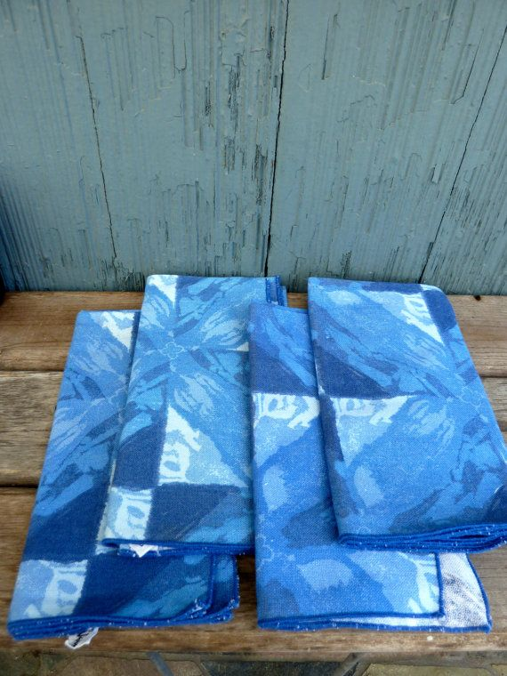 Vera Neumann napkins with 60s 70s vibe washed out by OatesGeneral