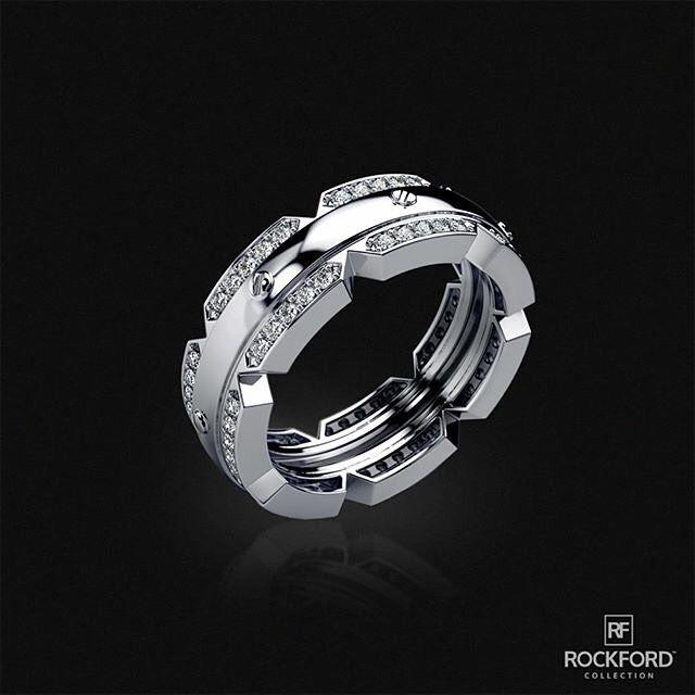 f56c9f239671 Rockford Collection - Designer Mens Gold Diamond Rings   Wedding Bands