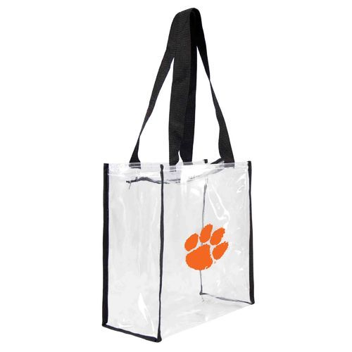 Little Earth Productions Clemson University Clear Square Stadium Tote Bag