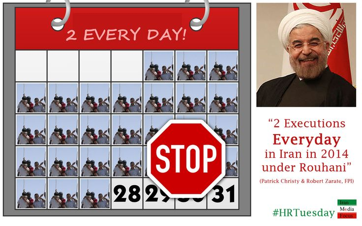 2 Executions everyday in Iran Under Rouhani